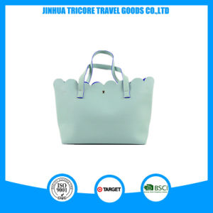 New Design Flower Shape PU Material Tote Bag pictures & photos