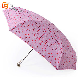 Little Heart UV Proof 5 Folding Umbrella