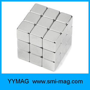 High Quality Neo Cube 5X5X5mm Nickel Coated Neodymium Block Magnet pictures & photos