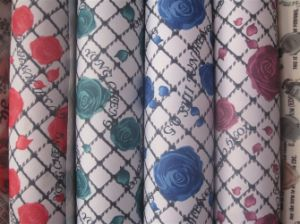 600d Printed Flower Polyester Fabric for Table Cloth