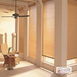 Wide Ladder Tape 50mm Solid Wood Slats Wand Tilt Window Venetian Blinds pictures & photos