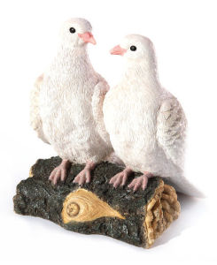 Polyresin Gift of Doves Pairs for Garden Decoration