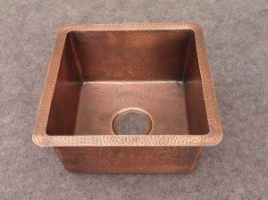 Hammered Copper Bar Sink