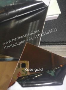 304 Rose Gold Colour Stainless Steel Sheet From China pictures & photos
