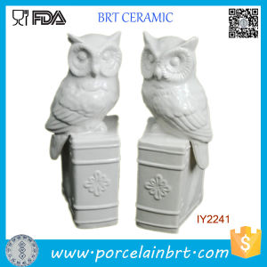 White Glazed Ceramic Owls on Books Bookend pictures & photos