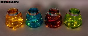 Furniture Decoration Light Glass Craft with Copper String LED Lighting (9112) pictures & photos