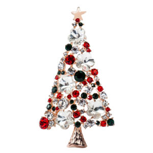 Colorful Crystal Christmas Tree Brooch New Hot Sales High-End Atmosphere Brooches for Clothes Decoration Brooch