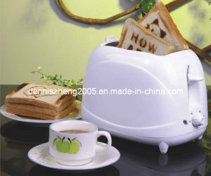 2 Slice Toaster with Detachable Roasting Logo Plates