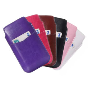 Universal Leather Mobile Cell Phone Pouch Case for Apple iPhone 6