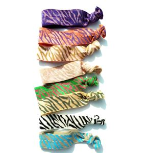 8pk Knotted Hair Ties with Stripe Decoration Hair Accessory pictures & photos