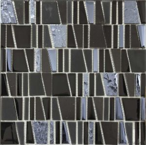 Crystal Vs Stone Mosaic Mixture Tile (LADDER-C29)