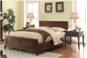 American Village Style Double Bed Made by Solid Wood (M-X1159) pictures & photos