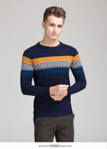 OEM Sweater Graphic Pattern 100% Cotton Men′s Sweater pictures & photos