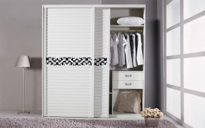 Modern Wood Wardrobe with Sliding Door (zy-005) pictures & photos