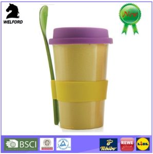 Hot Sale Eco-Friendly Bamboofiber Mug with Spoon