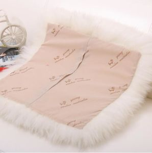 Long Wool Sheepskin Plush Chair Cushion in White pictures & photos