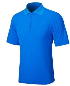 Plain Style Golf Polo Shirts with Half Zip Placket pictures & photos