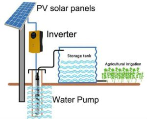 off Grid Inverter Without Battery with Solar Panel and AC Pump Conclude Solar Pumping System