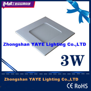 Yaye CE / RoHS Square 3W LED Panel Light / 3W Square LED Ceiling Light with 2 Years Warranty pictures & photos