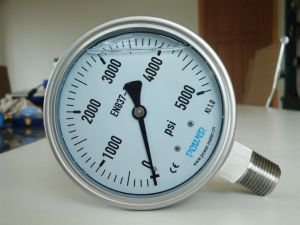 Ybf100A 100mm Full Stainless Steel Pressure Gauge Manometer 5000 Psi pictures & photos