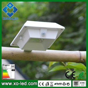 Solar Powered 4 LEDs Outdoor Lights LED Garden Lamp LED Fence Light with PIR Sensor IP44 Solar Lighting