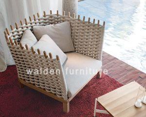 2018 Walden Luxury Wood Rope Weaving Garden Outdoor Sofa/Lounge/Chair