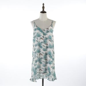 e8f70aff107 China Summer Flower Print White Long Tank Top Dress - China Clothing ...