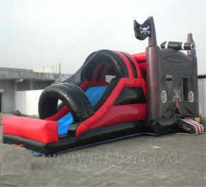 Inflatable Pirate Ship, Inflatable Combo Slide, Bouncy House with Water Slide pictures & photos