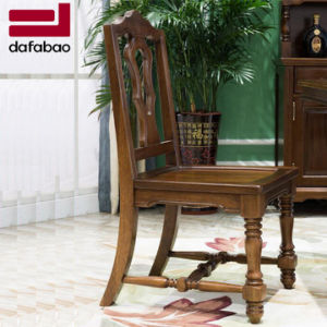 China Latest Simple Design Solid Wood Dining Chair For Home Use With