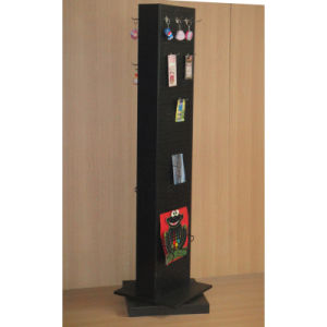 Power Coating Single Side Metal Display Rack with Pegboard Back pictures & photos