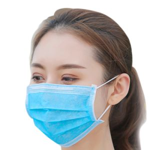Wholesale 3 Ply Disposable Nonwoven/Meltblown Surgical Mask