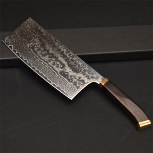 Yangjiang Manufacturer Damascus Steel Body with Wooden Handle Make as  Kitchen Knife Sets (WD52)