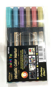 Metallic Color Marker in Buttet Tip for Any Surface Painting