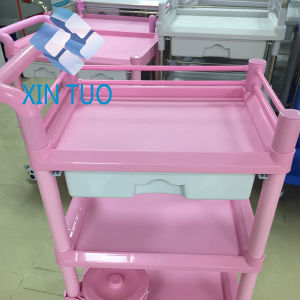Factory Direct Price Stainless Steel Simple Styles Instrument Trolley/Therapy Cart pictures & photos