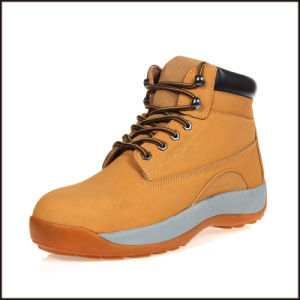 Nubulk Leather Light Weight Ce Safety Shoes pictures & photos