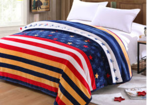 Thickening Single, Double, King Size Printed Flannel Blanket Polyester Blanket (SR-B170316-18)
