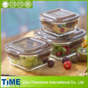 Wholesale Borosilicate Lunch Box with Lock pictures & photos