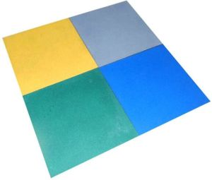 Safety Outdoor Recycled Rubber Granules Floor Tiles