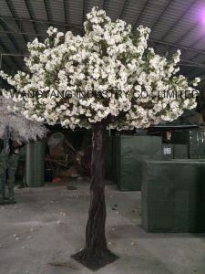 Hot Sale White Artificial Fake Handmade Sakura Cherry Blossom Tree for Decoration