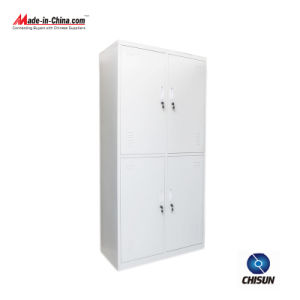 4 Doors Steel Knock Down Structure Clothes Cabinet Hs-034