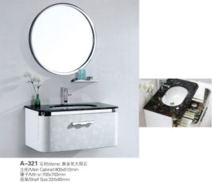 Wall-Hung Modern Mirrored Cabinet Stainless Steel Bathroom Vanity Cabinet