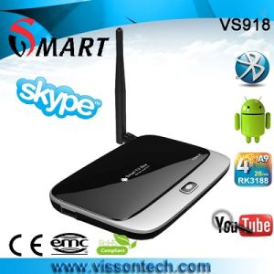 Vs918 Rk3188 Quad Core Video TV Box with High Quality Free Games Download
