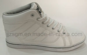 Fashion White High Top Casual Shoes pictures & photos