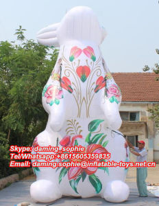 Shopping Mall Decorative Inflatable Gaint Rabbit Bunny for Sale