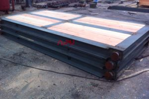 Oil Rig Matting Boards Made of Wood and Steel Beam
