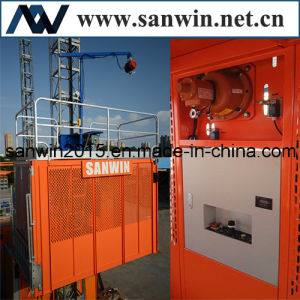 China Supplier Twin Cage Building Hoist