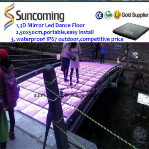 Fancy Manufacturer Brand 3D Mirror Time Tunnel LED Dancefloors pictures & photos
