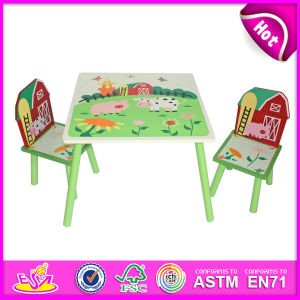 Lovely Wooden Table and Chair Toy for Kids, Wooden Toy Table and Chair Set for Children, Cute Wooden Table and Chair W08g129 pictures & photos