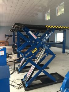 Ground Mounted Ultrathin Scissor Car Lift