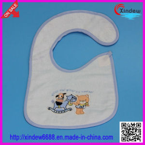 100% Cotton Embroidered Baby′s Bib pictures & photos